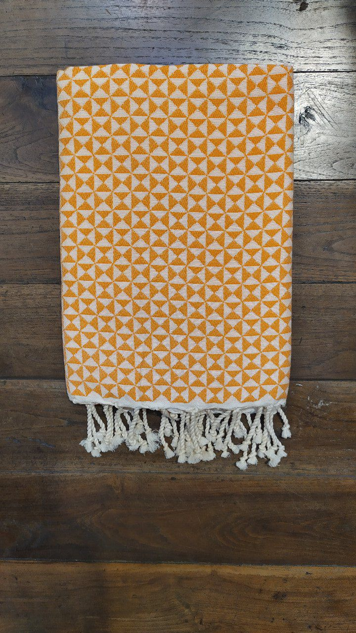Fouta Butterfly Tangerine/White  2x1m
